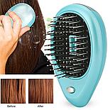 Расческа с ионизацией для ухода за кожей головы и волос, бирюзовая, фото 4