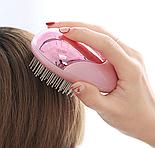 Расческа с ионизацией для ухода за кожей головы и волос, розовая, фото 4