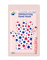 Маска-перчатки для рук с прополисом Purederm Twinkle Design Moisturizing Hand Mask