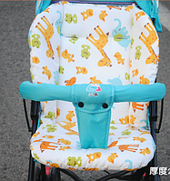 Вкладиш-чохол в коляску автокрісло стільчик для годування підкладка матрас Звірі
