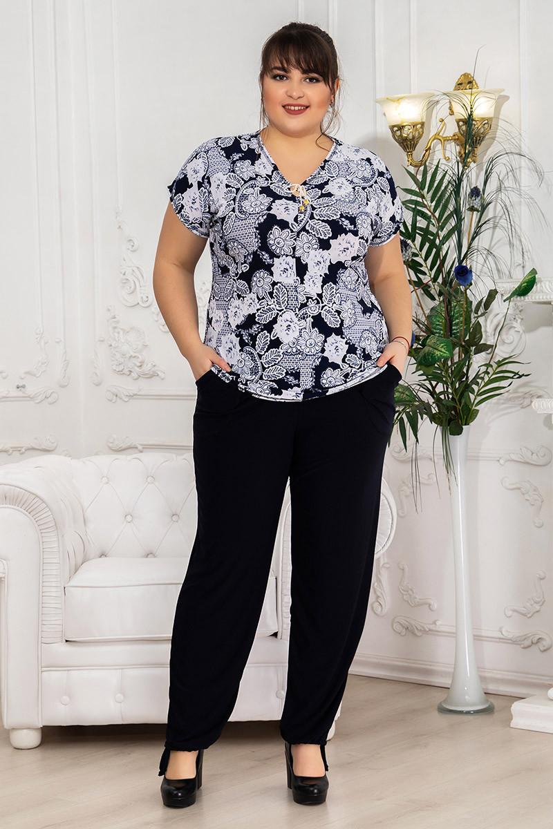Костюм женский с брюками Роза пуговица