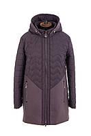 Удлиненная куртка женская демисезонная большого размера  54-62 темная пудра