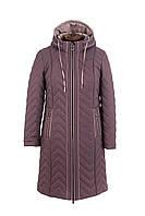 Удлиненная куртка женская демисезонная больших размеров  50-58 темная пудра