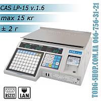 Весы CAS LP-15 с печатью этикетки