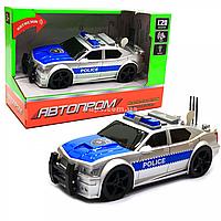 Машинка игровая автопром «Полиция» серебряная, 19х8х7 см, пластик (свет, звук) 7916ABC
