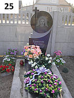 Одинарний жіночий пам'ятник із граніту на могилу