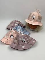 Детские панамы для девочек, размер 46 (ktm2095)