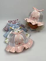 Детские панамы для девочек, размер 46 (ktm2096)
