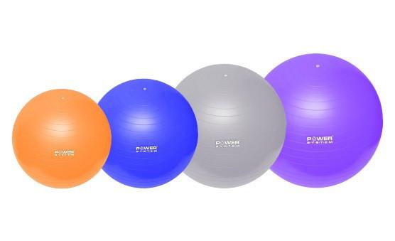 Мяч для фітнесу Power System Gym Ball 75 см PS-4013 (сірий)