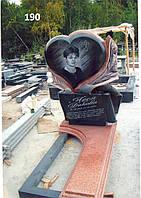 Жіночий пам'ятник на кладовище із граніту об'ємна різьба по каменю