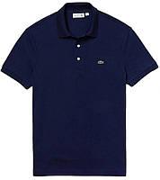 Мужская футболка поло Lacoste (ориг.бирка) темно-синяя