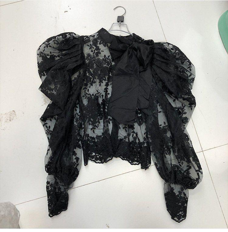 Блуза - набивное кружево