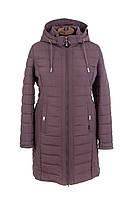 Куртка женская демисезонная больших размеров   50-60 темная пудра