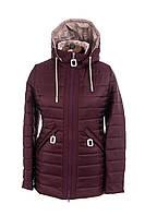 Весна женские Куртки больших размеров  50-60 бордовый