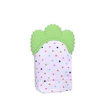 Детская рукавичка-прорезыватель с силиконовой накладкой! Перчатка с массажером для прорезывания зубов!