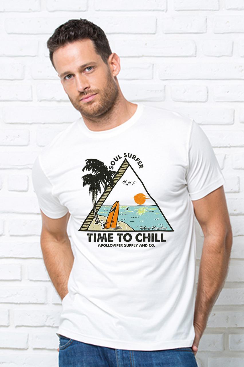 Футболка мужская  серфинг Чоловіча футболка з принтом Серфінг