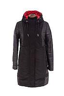 Женская демисезонная куртка больших размеров   50-62 черный