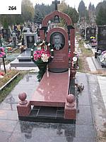 Ексклюзивний пам'ятник з аркою - червоного граніту на кладовище