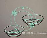 Коло, підставка для квітів на 2 чаші, фото 2