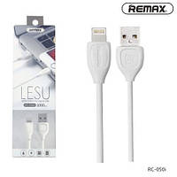 Lightning USB REMAX Data Cable кабель для Apple iPhone 5S/SE/6S/7 plus RC-050i 1 м White