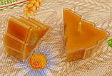 Восковая чайная свеча Ёлочка в пластиковом прозрачном контейнере; натурального пчелиный воск, фото 5