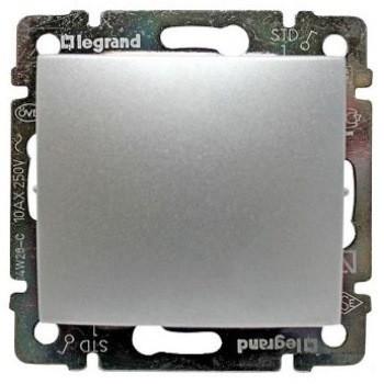Выключатель 1 кл. проходной Алюминий 770106 Legrand Valena