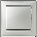 Выключатель 1 кл. проходной Алюминий 770106 Legrand Valena, фото 2