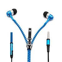 Наушники змейка Zipper Earphones с микрофоном/ Безпровідні навушники вакуумки