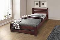 Кровать односпальная деревянная Престиж-Глория 90-200 см (темный орех)