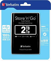 Внешний жесткий диск Verbatim HDD ext. 2,5 2TB Store 'n' Go USB 3.0 53177 black
