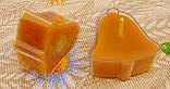 Воскова чайна свічка Дзвіночок в пластиковому прозорому контейнері; натуральний бджолиний віск, фото 5