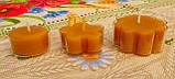 Восковая чайная свеча Цветок 30г в пластиковом прозрачном контейнере; натурального пчелиный воск, фото 5