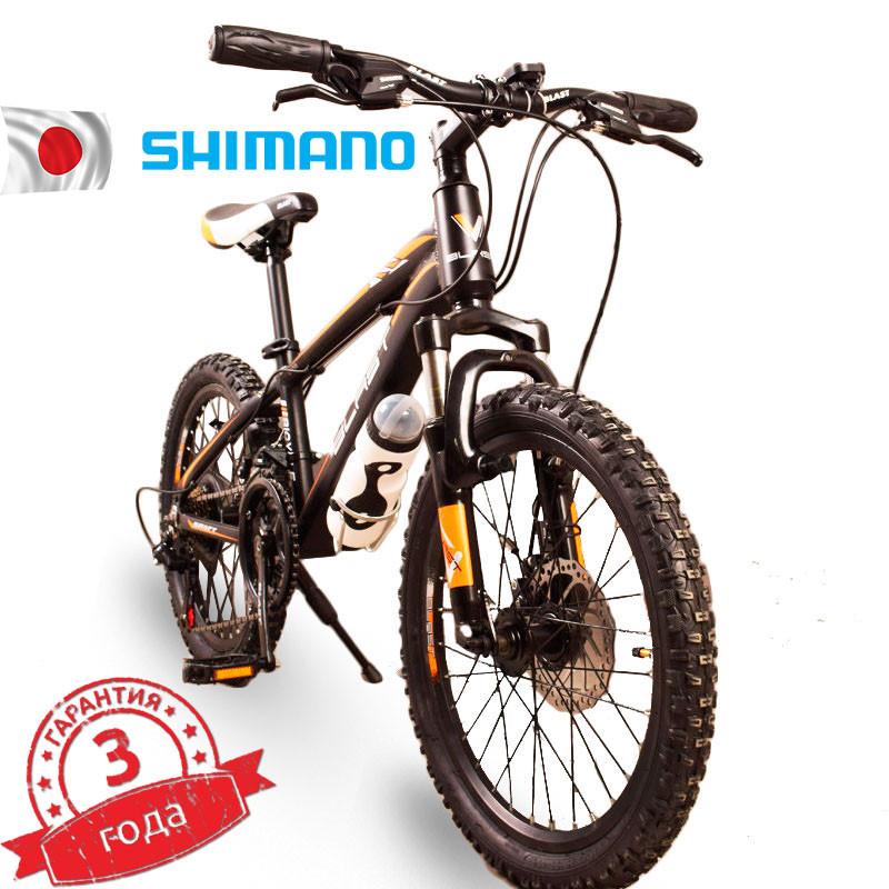 Горный Подростковый Велосипед S300 BLAST-БЛАСТ. Диаметр колёс 20'',Рама 11'' Япония Shimano. Оранжевый