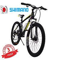 Горный Велосипед HAMMER-26 Черно-Желтый Япония Shimano Колёса 26 дюймов Рама 17