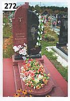 Ексклюзивний пам'ятник на могилуі з граніту лізник та латунний хрест