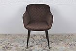 Кресло обеденное BAVARIA (Бавария) велюр коричневый Nicolas, фото 3