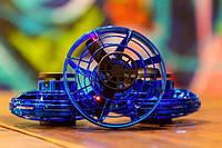 Летающий спиннер с LED подсветкой Original FLY Синий