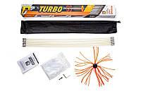 Роторный набор для чистки дымоходов TURBO (1 м х 6 шт)