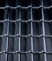 Керамическая черепица Creaton Futura Finesse (Креатон Футура) черная глазурь., фото 1
