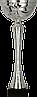 Кубок 9252, серебристый