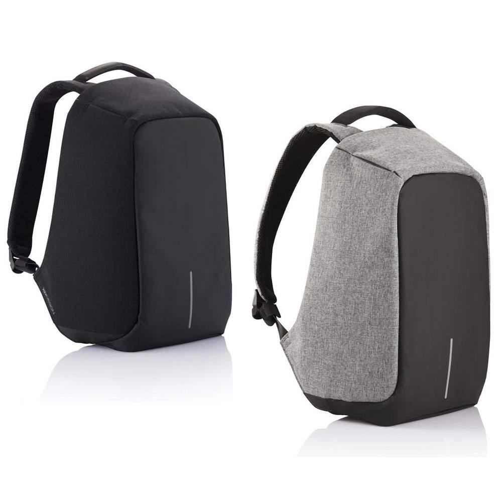 Городской рюкзак антивор под ноутбук Бобби Bobby с USB / с защитой от краж Черный реплика