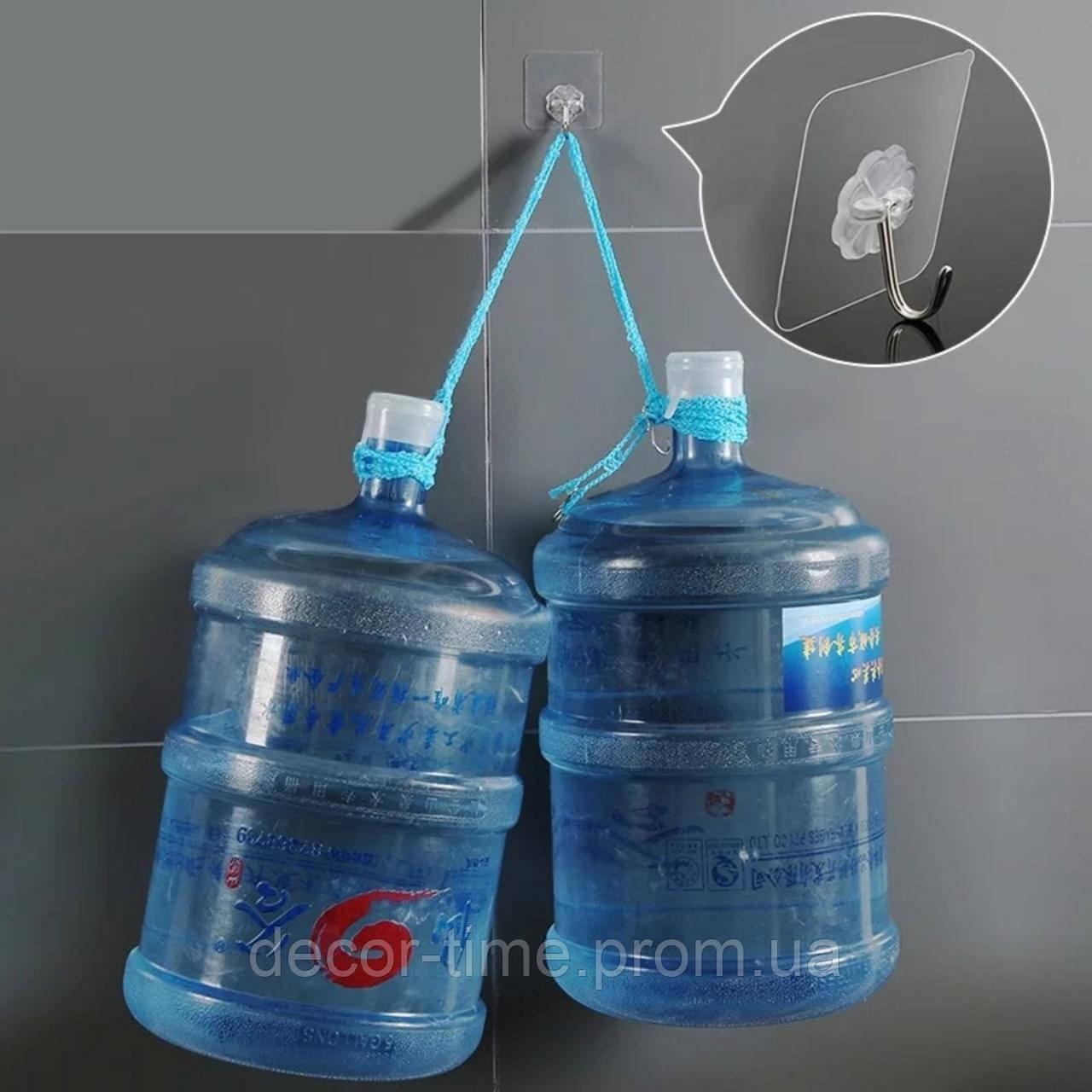 Прозорі самоклеючі гачки для кухні , вішалки для ванної, будинку (комплект 4шт) 948572