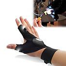 Рукавички з підсвічуванням hand-free light для ремонту авто, спорту, риболовлі, туризму / рукавичка ліхтарик, фото 6