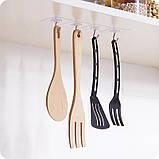 Прозорі самоклеючі гачки для кухні , вішалки для ванної, будинку (комплект 4шт) 948572, фото 5