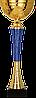 Кубок 9253, золотисто'-синий