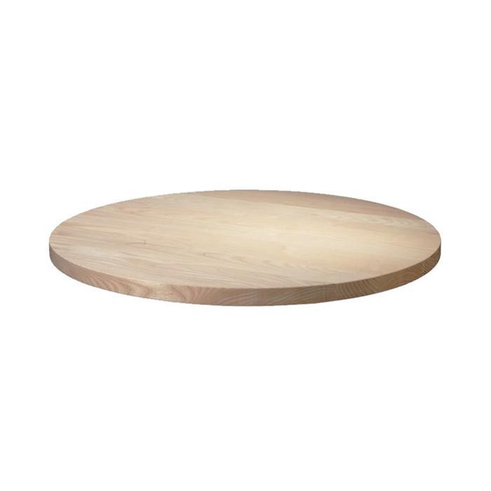 Столешница круглая из ясеня 40 мм диаметром 1200 мм Без покрытия