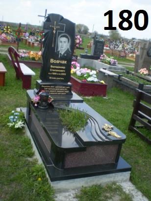 Ексклюзивний комплект пам'ятник з хрестом із граніту на кладовище