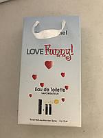 Женский мини парфюм jeanmishel Love Funny 3*15ml