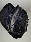 Швейцарский рюкзак WENGER SwissGear 6621 черно-серый с дождевиком, USB-кабелем, разъёмом под наушники реплика, фото 6