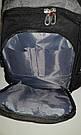 Швейцарский рюкзак WENGER SwissGear 6621 черно-серый с дождевиком, USB-кабелем, разъёмом под наушники реплика, фото 7